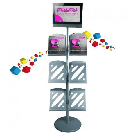 Porte brochure avec écran LCD