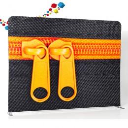 Fond de stand droit en tissu Zipper