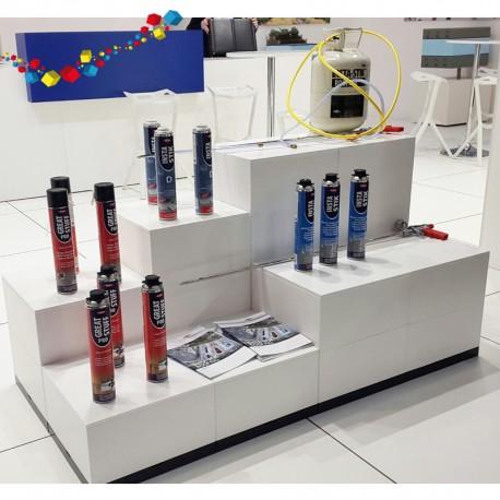8 podiums d'exposition blanc