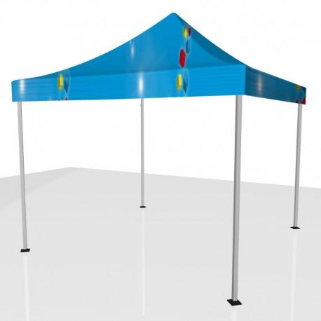 Tente publicitaire 3 X 3 avec toit personnalisé