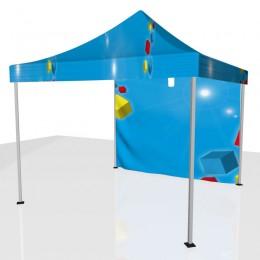 Tente 1 côté + toit personnalisée 3x3 m