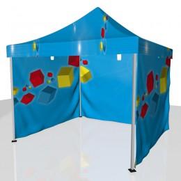 Tente 3 côtés + toit personnalisée
