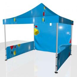 Tente 2 demi-côtés + toit + fond personnalisée
