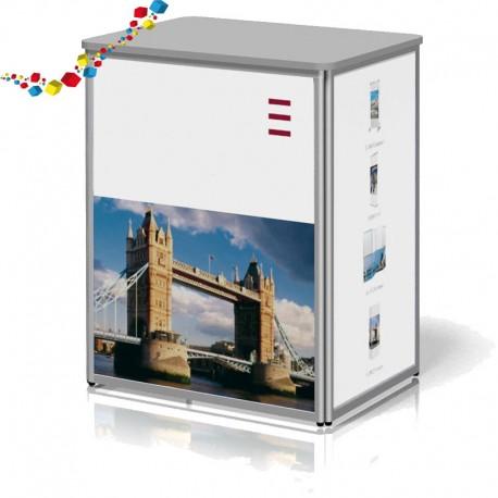 Comptoir de stand  droit 72  cm pliable en aluminium