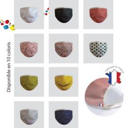 50 masques personnalisés en tissu fabrication française