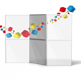 Cloison de séparation en plexiglas ou imprimée