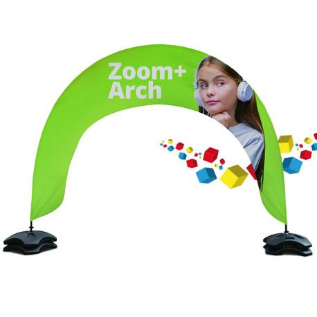 Drapeau personnalisé en forme de arche