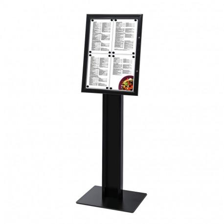 Porte menu 4 x A4 noir