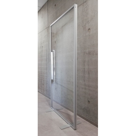 Cloison transparente en aluminium