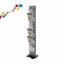 Totem porte- brochures en plexiglass : 6 ou 12 bacs