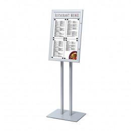 Porte menu sur pied 4 x A4 avec éclairage LED