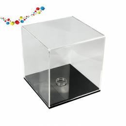 Cubes vitrine carré en acrylique de 6 mm
