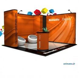 Stand pliable de  16m² avec une réserve