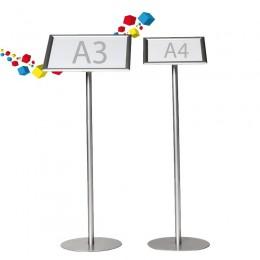 Porte affiche sur pied au format A4 et A3