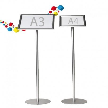 Porte affiche  A4/ A3  sur pied