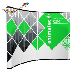 Stand parapluie courbe 4x3