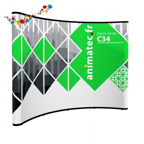Stand parapluie courbe 3X4