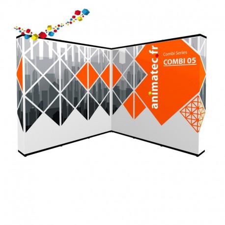 Stand parapluie en angle  pour une surface de 9 m²