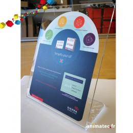 Présentoir Plexiglass sur mesure